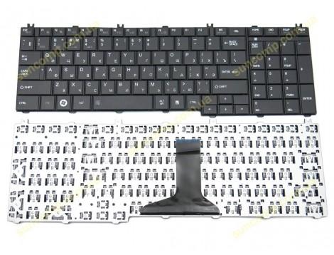 Клавиатура для Toshiba Satellite C650, C655, C660, C660D, C665, C665D, C670, L650, L655, L670, L750, L755, L755D, L770 ( RU Black матовая).