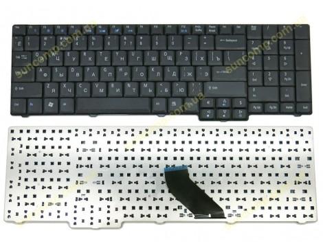 Клавиатура для ACER Aspire 9400, 9300, 7000, 5735, 6530, 6930, EX 5235, 7220 eMachines E528 ( RU Black Матовая).