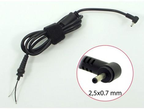 DC кабель (2.3*0.7) для ASUS EeePc (30W, 40W). От блока питания к ноутбуку. Кабель с ферритовым фильтром и застежкой.