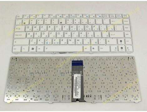 Клавиатура для ASUS EEE PC 1215, 1225, 1215B, 1215PN, 1215N, 1201P (RU White, без рамки). Оригинал.