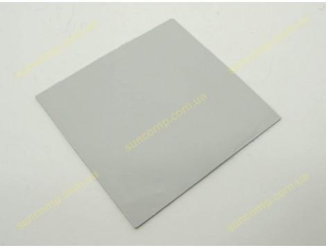 Термопрокладка силиконовая для ноутбука Halnziye (100*100*2.0mm, 4W/m-K) Серая. Применяется для передачи тепла от чипа к радиатору. Рабочая температура от -40 до +200 градусов