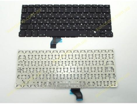 Клавиатура для APPLE A1502 Macbook Pro ME864, ME866, MGX72, MGX92, MF839, MF841, MF843  (2013-2015) (RU BLACK Вертикальный Enter). Оригинал.