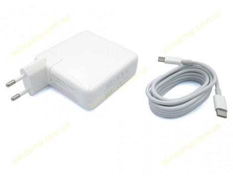 Блок питания для APPLE 87W A1719 (MNF82CH/A) + Евро вилка + Type-C (USB-C) кабель. ORIGINAL.