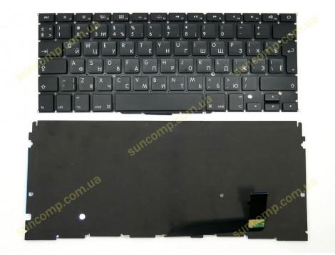 Клавиатура для APPLE A1398 Macbook Pro MC975, MC976(2012) (RU BLACK, Вертикальный Enter, с подсветкой). Оригинал.