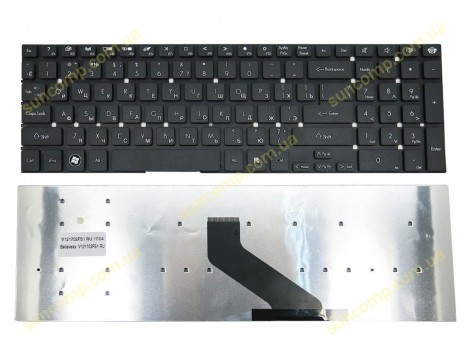 Клавиатура для Packard Bell EasyNote LS11, TS11, LV11, LK11, Gateway NV55, Acer 5830 ( RU Black без рамки ). Оригинал.