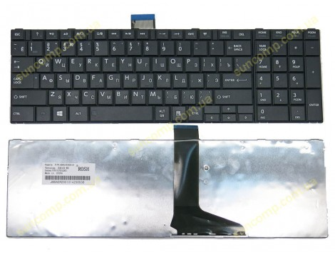 Клавиатура для Toshiba Satellite C850, C855, C870, C875, L850, L850D, L855, L870, L875 ( RU Black, C850 Версия)