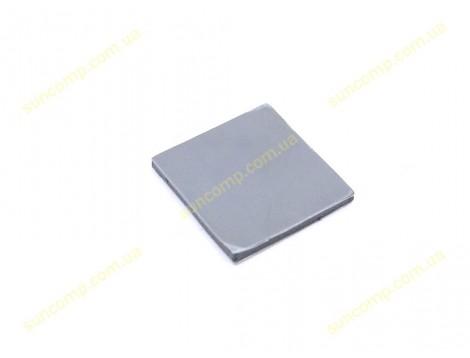 Термопрокладка силиконовая для ноутбука Halnziye HY100 (25*25*2.0mm, 4W/m-K) Серая. Клейкая поверхность 3M с одной стороны!