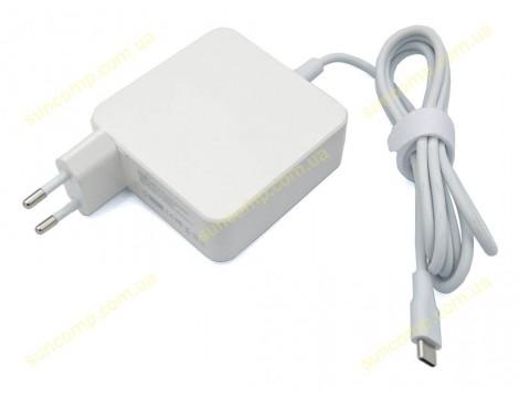Блок питания для Apple, Asus, HP, Dell, Lenovo, Samsung, Xiaomi Type-C (USB-C) 65W (5V, 9V, 12V, 15V, 18V, 20V) 3.25A Max. Квадратный. Белый.