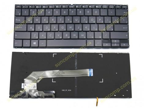 Клавиатура для ASUS UX370, UX370U, UX370UA (RU Gray с подсветкой)