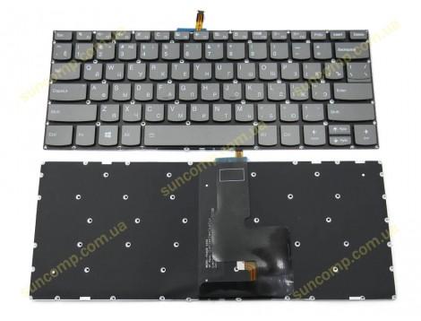 Клавиатура для Lenovo Ideapad 330S-14ARR, 330S-14AST, 330S-14IKB, 330S-14ISK, Yoga 520-14IKB, 720-15ISK, 720-15IKB (RU Black с подсветкой)